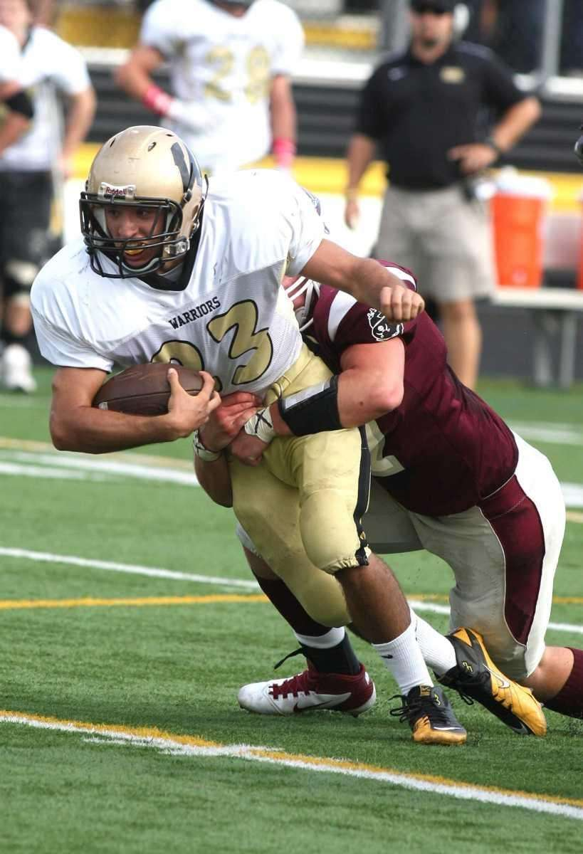 Wantagh H.S. running back Matt Balzano, no. 23,