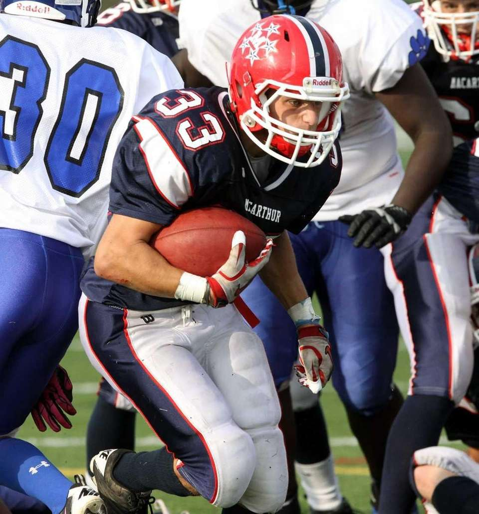 Touchdown run by MacArthur's Brett Ellers. (Oct. 1,