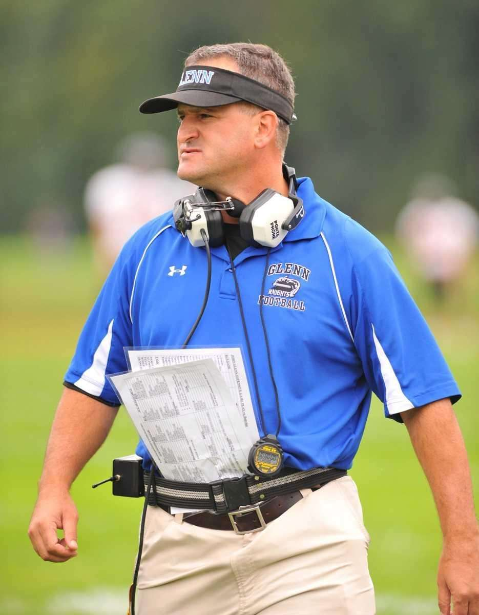 Glenn's head coach, David Shanahan, during his teams