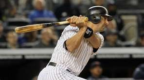 Jorge Posada singles in the second inning against