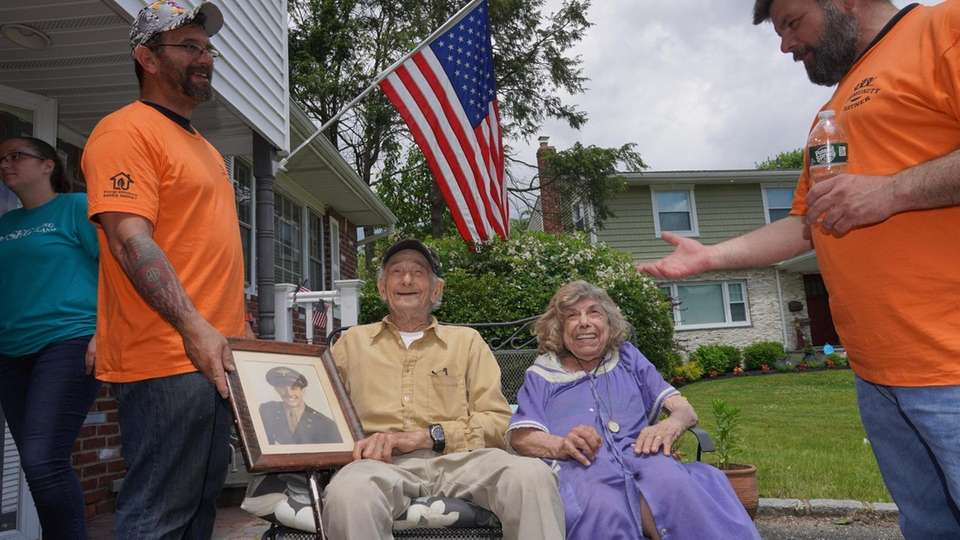 "Morris "" Monty"" Koffer, 97, WWII veteran, with"