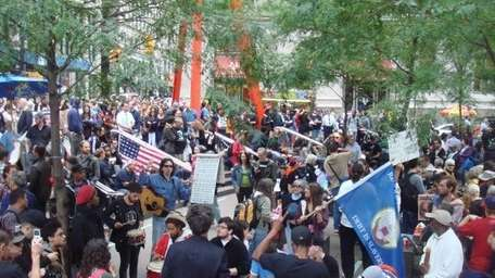 Protesters at Zuccotti Park
