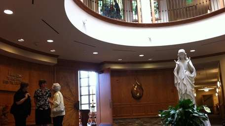 About 400 people toured the newly built Cenacle