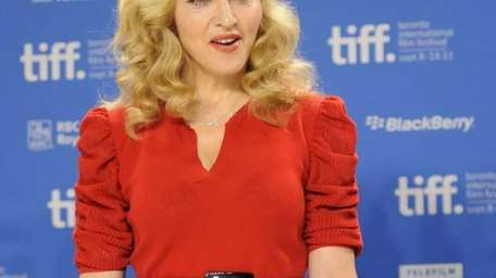 Madonna participates in a news conference for the