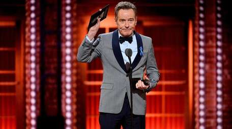 Bryan Cranston accepts the Tony on Sunday for