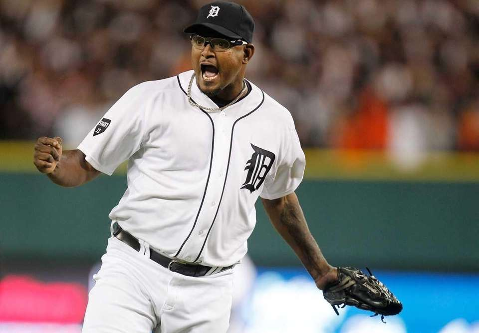 Jose Valverde after beating the New York Yankees,