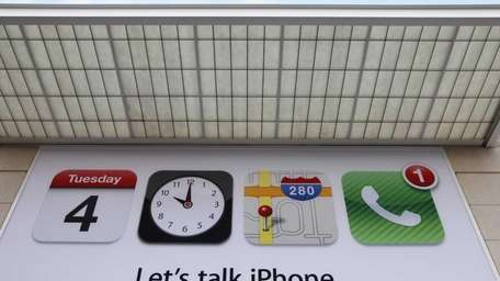 An advertisement about iPhone is shown before an