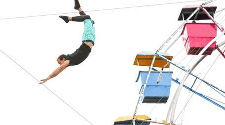 Dad's can enjoy trapeze classes for half price