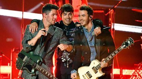 The Jonas Brothers -- from left, Nick Jonas,