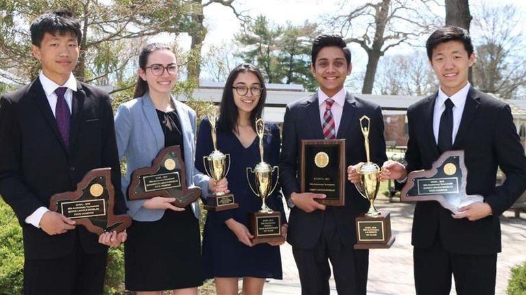 Members of Syosset High School's speech and debate