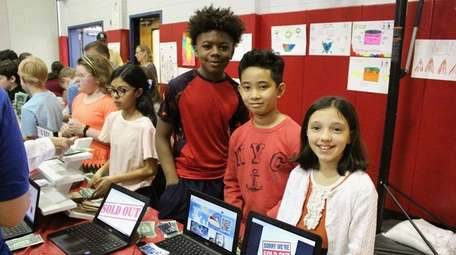 Fifth-graders at Rhame Avenue Elementary School, in the