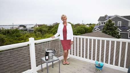 Katherine Wahl at her home in Oak Beach.