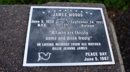 The fountain is a memorial to James Woods,