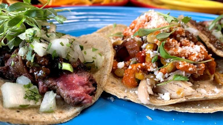 Beef and chicken offerings at Mission Taco in