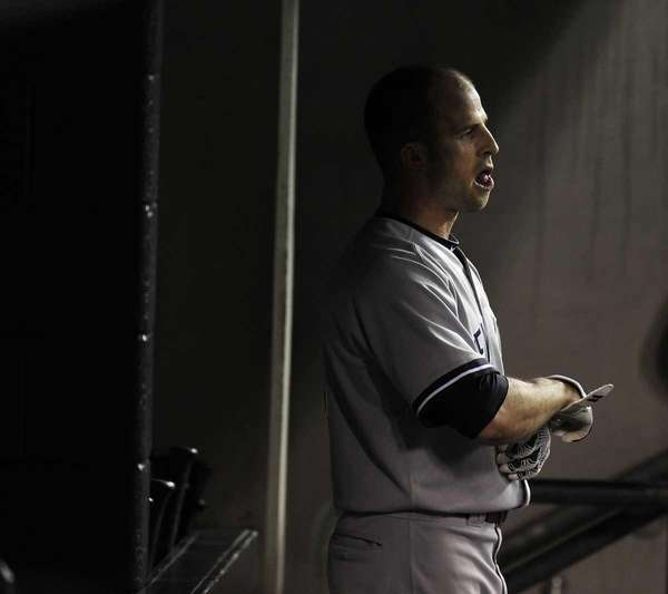 Brett Gardner not happy with the call from