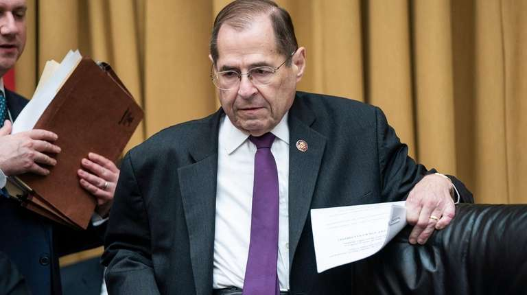 House Judiciary Chairman Jerry Nadler at a committee