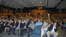 Hundreds packed Bethpage High School Monday to hear an
