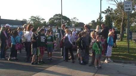 About 100 students from Westhampton Beach Elementary School