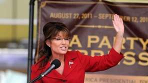 Former Alaska governor Sarah Palin speaks at a