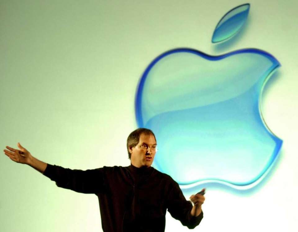 Apple chief executive Steve Jobs speaks at a