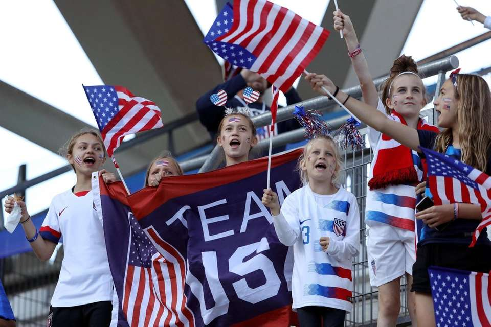 USA fans enjoy the pre-match atmosphere before the
