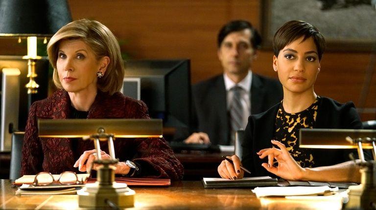 Christine Baranski, left, as Diane Lockhart, and Cush