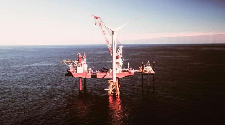 The South Fork Wind Farm project used images