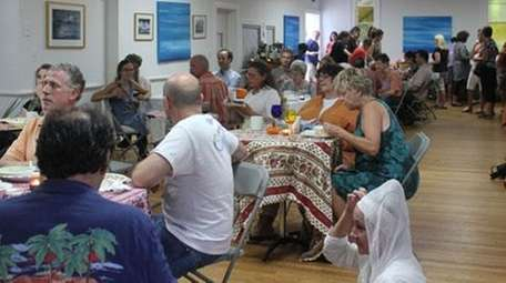 Community members gathered at a recent Locavore Potluck