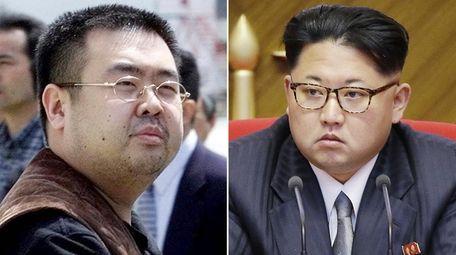 Kim Jong Nam, left, the late half-brother of