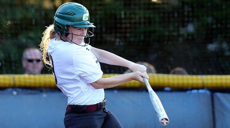 Suffolk All-Star Chrissy Coan drills a two RBI