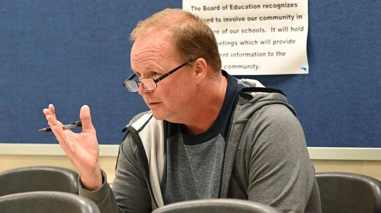 Eastport resident Mike Doyle speaks during an Eastport-South