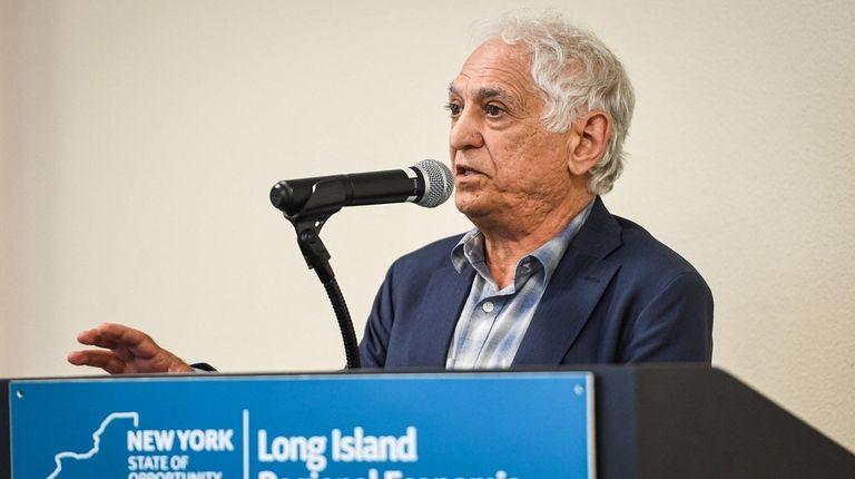 Parviz Farahzad, owner of Grumman Studios, speaks during