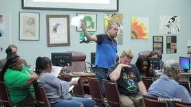 Tensions were high at the Wyandanch school board