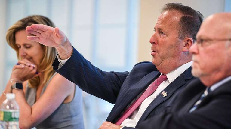 Long Island Association chief executive Kevin Law speaks
