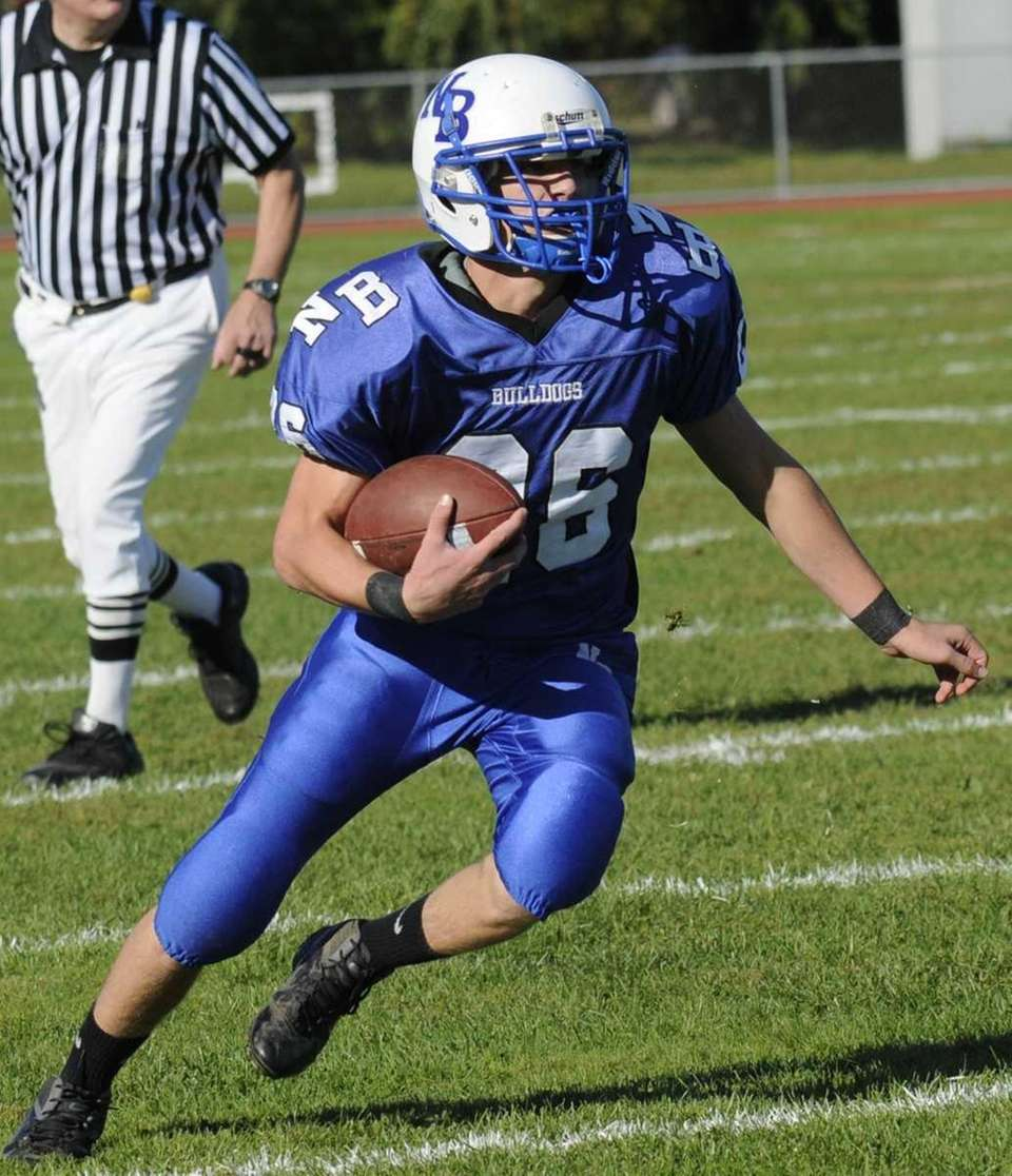 Ryan Slane rushes for yards during the game