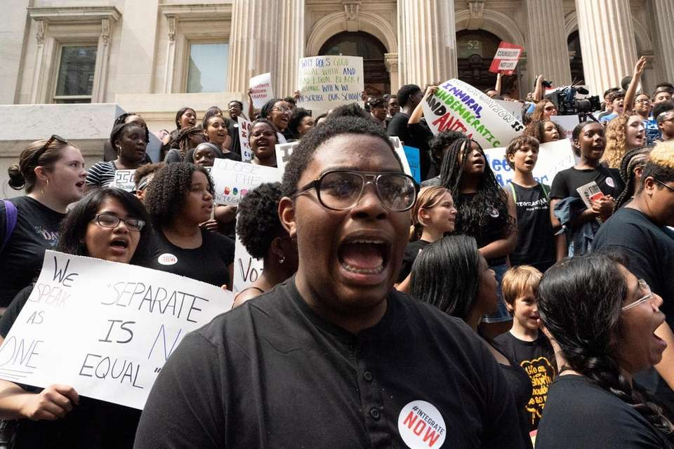 Students protest how segregated New York City City