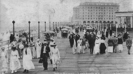 Hotel Nassau and the Boardwalk in Long Beach,