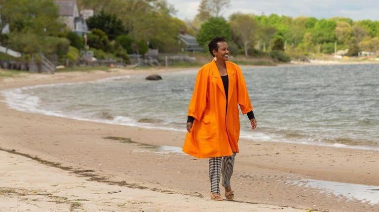 Renee Simons on Sag Harbor's Havens Beach with
