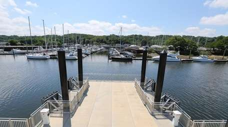 The dock at the Glen Cove Ferry Terminal.