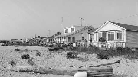Cottages off West Meadow Beach in 1994.