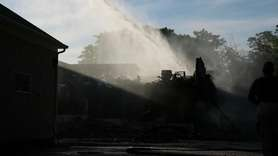 On Wednesday, amajor fire erupted at Cutchogue's Braun