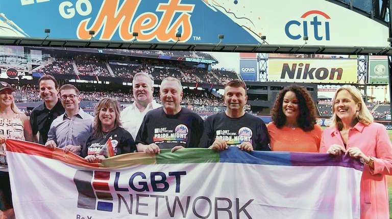 A LGBT Network banner is presented and shown