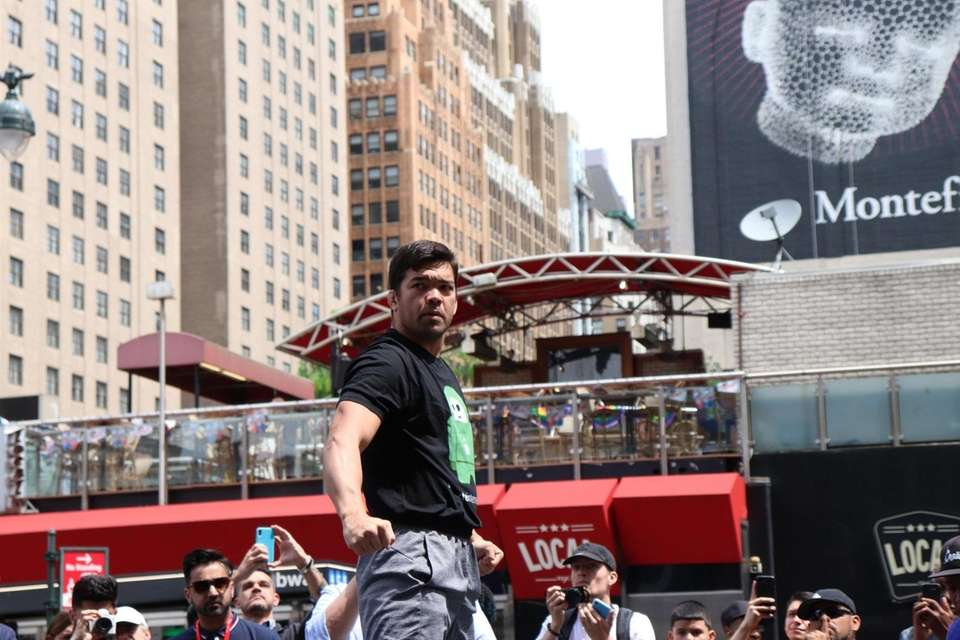 Lyoto Machida appears at the open workouts for