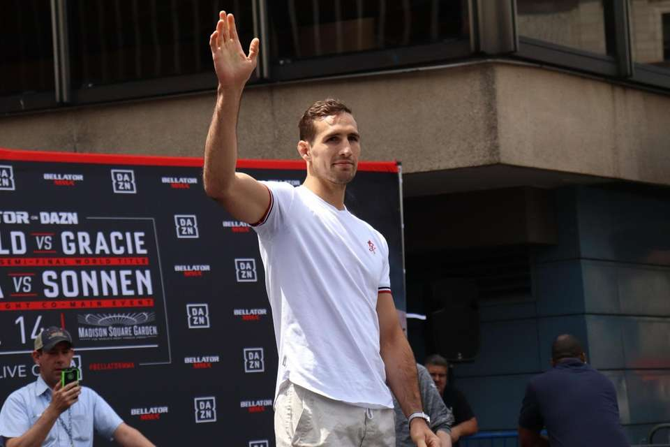 Rory MacDonald appears at the open workouts for