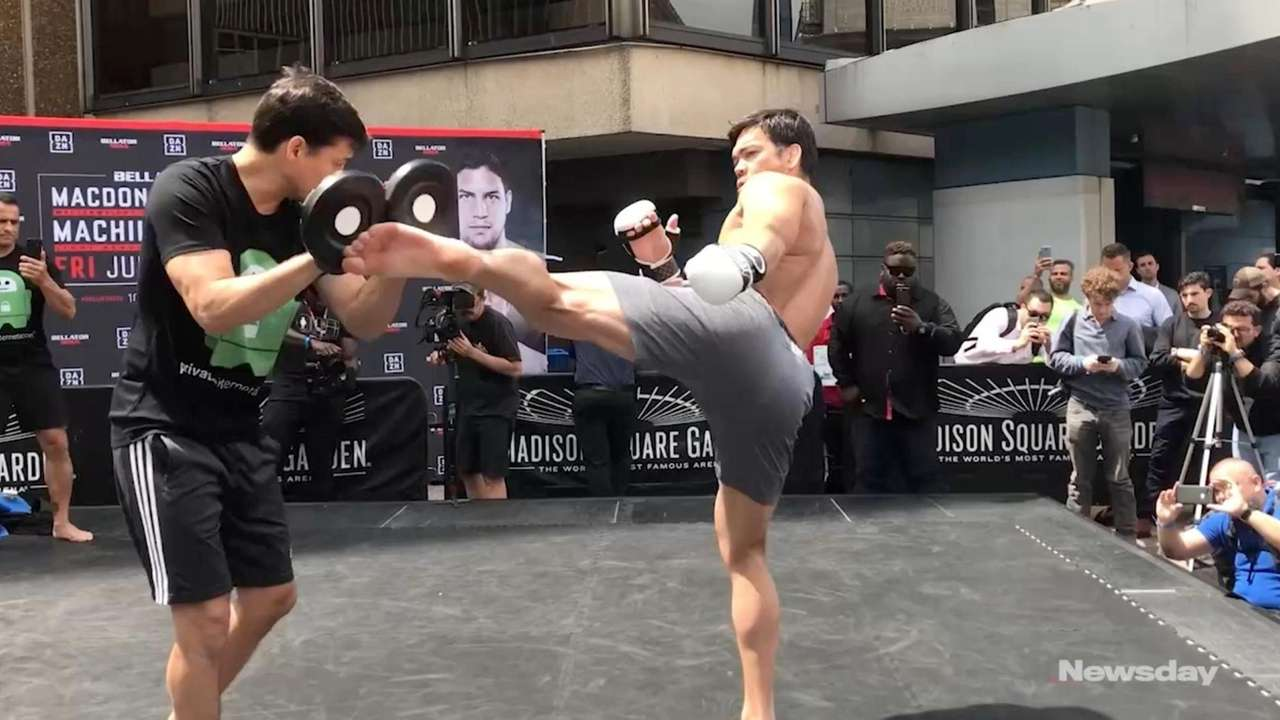 The Bellator 222 open workouts outside Madison Square