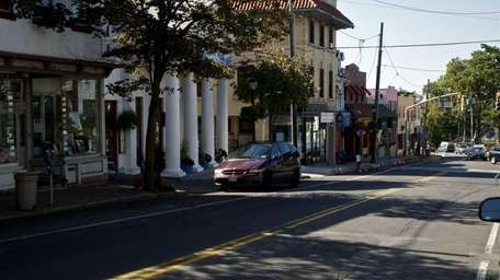 Port Washington has a quaint downtown lined with