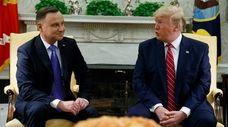 President Trump meets with Polish President Andrzej Duda