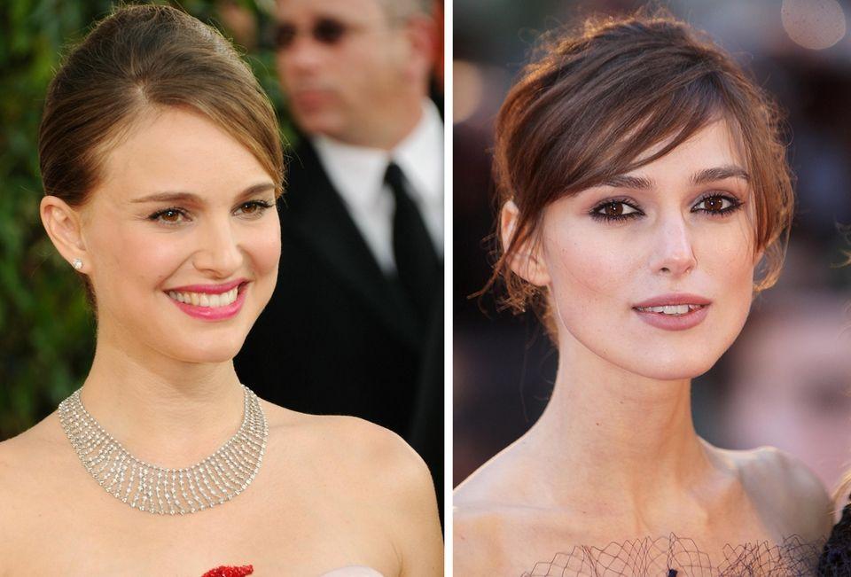 Natalie Portman, left, and Keira Knightley.