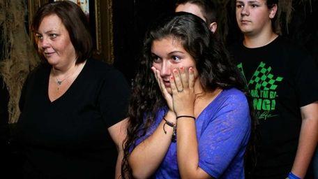 Lauren Foschino, 19, right, along with Jill Montario,