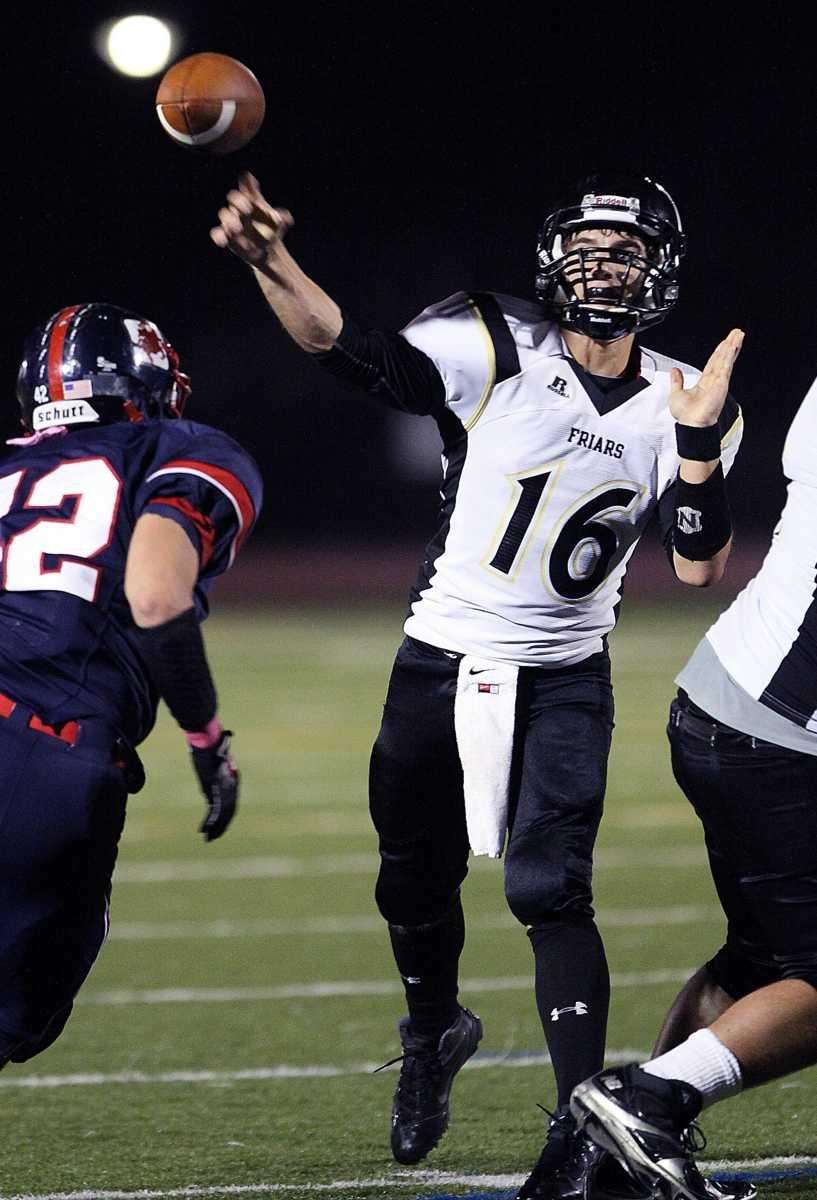 St. Anthony's QB Pete Carew fires a TD